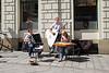 Street players in Bratislava, SLovakia.