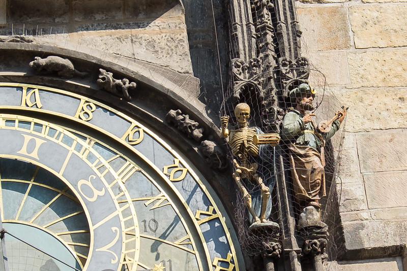 The Bell Ringer of the Sun Dial Clock in Prague.
