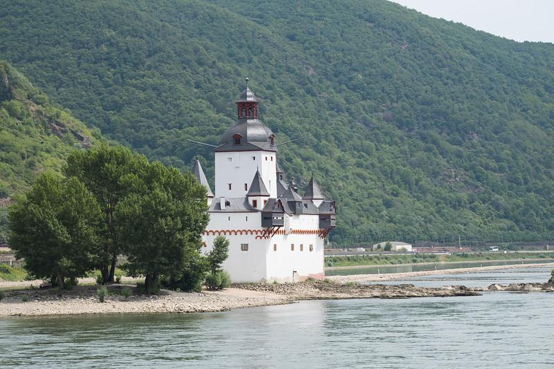 Rhine waterway toll station.