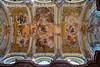 Ceiling of the church inside Melk Abbey, Germany.