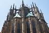 Spires of Saint Vitas Cathedral, Prague, Czech Republic.