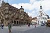 Town square of Rothenburg ob der Tauber, Germany.
