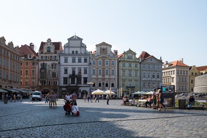 Prague, Town Square area, Czech Republic.