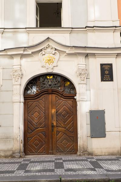 Jewish Temple in Prague, Czech Republic.