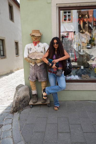 Pla'in around in  Rothenburg ob der Tauber, Germany.