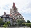 Church across from the Bestla's landing in Vienna, Austria.