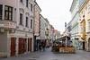 Streets in Bratislava, Slovakia.