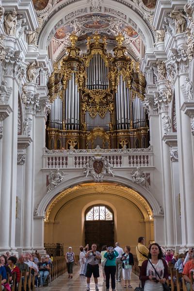 Church organ pipes in Passau, Germany.