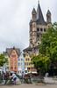 Street scene in Cologne, Germany.