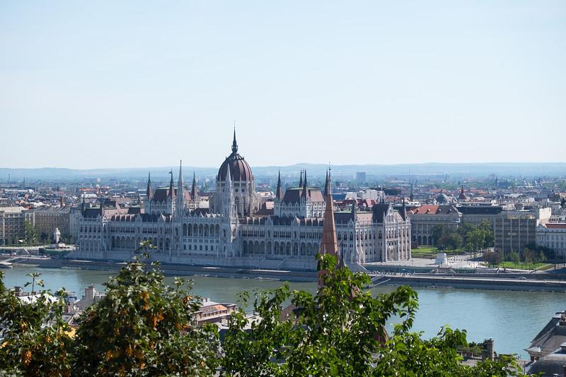 Hungarian Parliament building across the Danube.