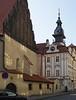 Hebrew and Roman numeral clocks in Prague's Jewish Quarter.