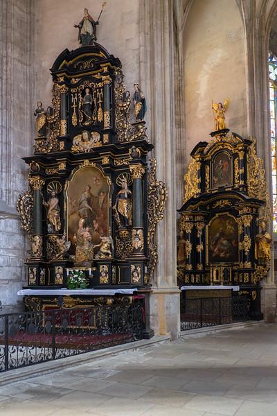 Details inside Saint Barbara's Church in Kutna Hora, Czech Republic.