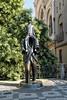 Franz Kafka statue in Prague, Czech Republic.