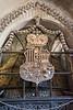 Inside the Sedlec Ossuary, aka, the Church of Bones in Kutna Hora, Czech Republic.