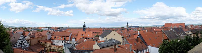 Panorama from the Rosegarten der Neuen Residenz Bamberg.