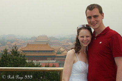 Rob and Emily with the Forbidden City - Beijing, China ... May 31, 2014