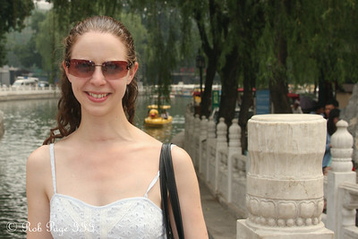 Emily in front of Qianhai Lake - Beijing, China ... May 31, 2014 ... Photo by Rob Page III