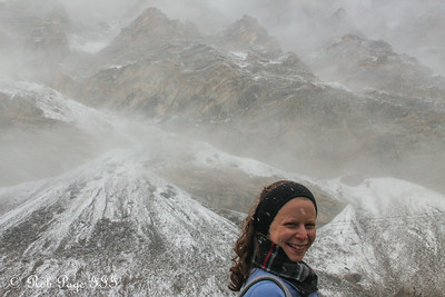 Emily just below Everest Base Camp - Qomolangma National Nature Preserve, Tibet, China ... May 26, 2014 ... Photo by Rob Page III