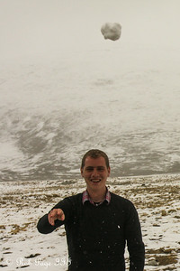 Throwing a snowball at Emily - Qomolangma National Nature Preserve, Tibet, China ... May 26, 2014 ... Photo by Emily Page