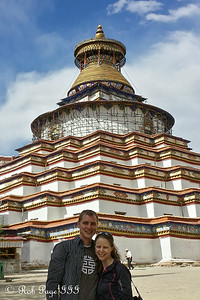 Rob and Emily at the Palcho Monastery (Shekar Gyantse) - Gyantse, Tibet, China ... May 23, 2014