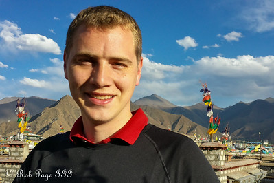 Rob enjoying the Tibetan evening - Lhasa, Tibet, China ... May 20, 2014 ... Emily Page