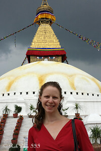 Emily at Bodhnath - Kathmandu, Nepal ... May 29, 2014 ... Photo by Rob Page III