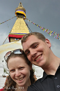 Rob and Emily at Bodhnath - Kathmandu, Nepal ... May 29, 2014 ... Photo by Rob Page III