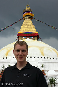 Rob at Bodhnath - Kathmandu, Nepal ... May 29, 2014 ... Photo by Emily Page