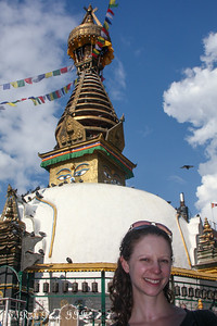 Emily in front of the Kathesimbhu Stupa - Kathmandu, Nepal ... May 28, 2014 ... Photo by Rob Page III
