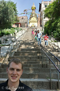 Rob in front of Swayambhunath, the monkey temple - Kathmandu, Nepal ... May 29, 2014 ... Photo by Emily Page