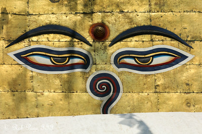Buddha eyes at Swayambhunath, the monkey temple - Kathmandu, Nepal ... May 29, 2014 ... Photo by Rob Page III