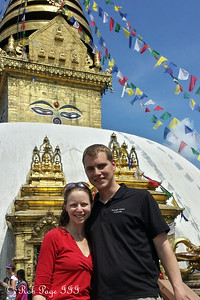 Emily and Rob at Swayambhunath, the monkey temple - Kathmandu, Nepal ... May 29, 2014
