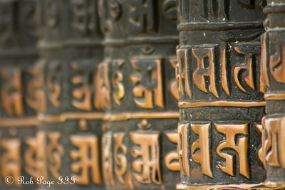 Prayer drums at Swayambhunath, the monkey temple - Kathmandu, Nepal ... May 29, 2014 ... Photo by Rob Page III