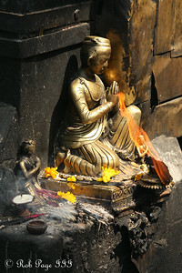 Offerings at a temple at Swayambhunath, the monkey temple - Kathmandu, Nepal ... May 29, 2014 ... Photo by Rob Page III