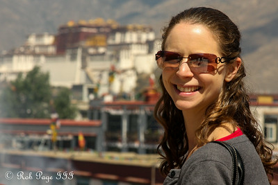 Emily with the Potala Palace in the background - Lhasa, Tibet, China ... May 21, 2014 ... Photo by Rob Page III