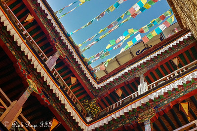 Looking up from the courtyard in our hotel - Lhasa, Tibet, China ... May 20, 2014 ... Photo by Rob Page III