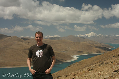 Rob above Yamdrok Lake along the road from Lhasa to Gyangze - Zhamalong, Tibet, China ... May 23, 2014 ... Photo by Emily Page