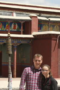 Rob and Emily at the Sakya Monastery - Shigatse, Tibet, China ... May 25, 2014