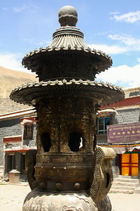 Where incense is burned at the Sakya Monastery - Shigatse, Tibet, China ... May 25, 2014 ... Photo by Rob Page III