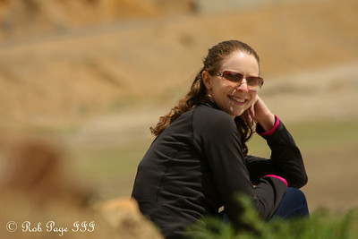 Emily enjoying a break on our road trip - Shigatse, Tibet, China ... May 25, 2014 ... Photo by Rob Page III