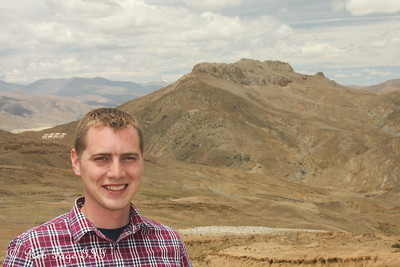 Rob enjoys the mountains - Shigatse, Tibet, China ... May 25, 2014 ... Photo by Emily Page