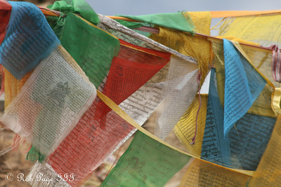 Prayer flag near the 5000 km marker along National Route 318 - Shigatse, Tibet, China ... May 25, 2014 ... Photo by Rob Page III