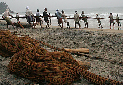 Bringing in the fishing nets, from a different perspective.
