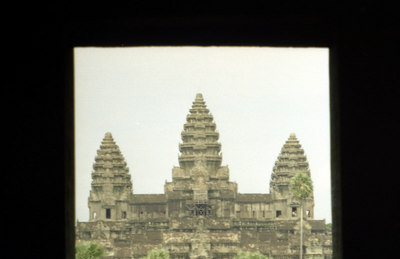 Angkor Wat.  This is probably the most impressive of the temples.  It is found on the Cambodian flag.  This temple was never left to the jungle and is an immense complex built at the beginning of the 12th century for Suryavarman in honour of Vishnu. ... August 14, 2004 ... Copyright Robert Page III
