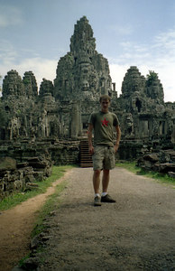 Myself in front of Bayon. ... August 14, 2004 ... Copyright Robert Page III