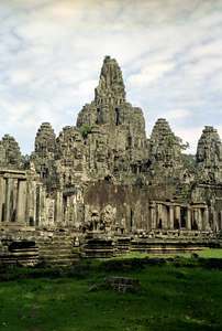 The Bayon from the north west corner. ... August 14, 2004 ... Copyright Robert Page III
