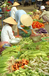 A street market. ... August 13, 2004 ... Copyright Robert Page III