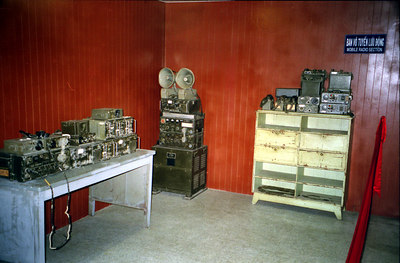 One of the communication rooms in the Reunificaiton Palace.  From here the Americans and the South Vietnamese would carry out military operations and communicate other commanders. ... August 11, 2004 ... Copyright Robert Page III