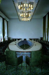 A negotiating room within the Reunification Palace, Ho Chi Minh CIty, Vietnam. ... August 11, 2004 ... Copyright Robert Page III