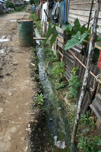 This is the drainage system.  Diarrheal diseases, malaria are very prevelant here.